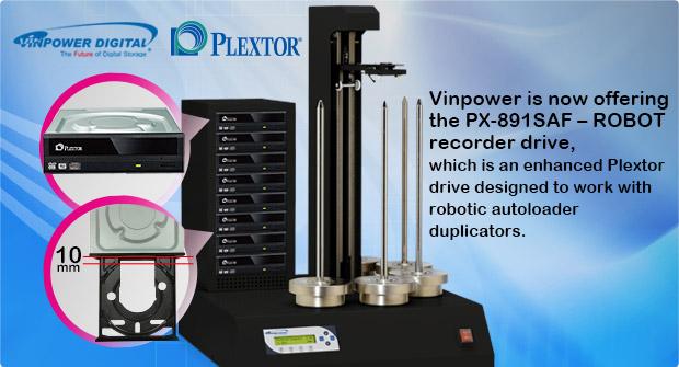 Plextor Autoloader drives