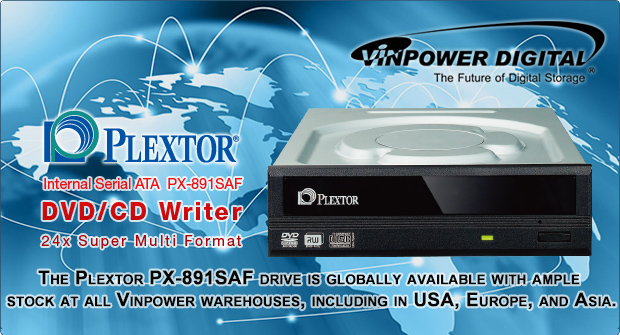 Plextor available globally