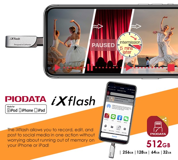 ixflash live record plus