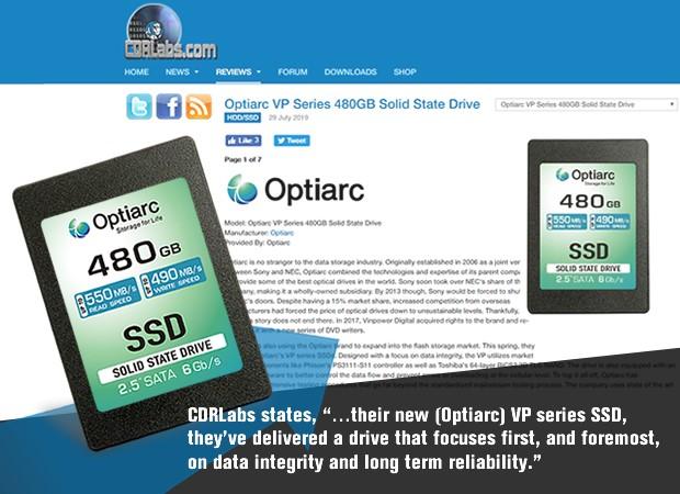 Optiarc SSD CDRLabs
